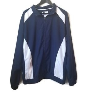 Russell blue and white mens windbreaker size XL